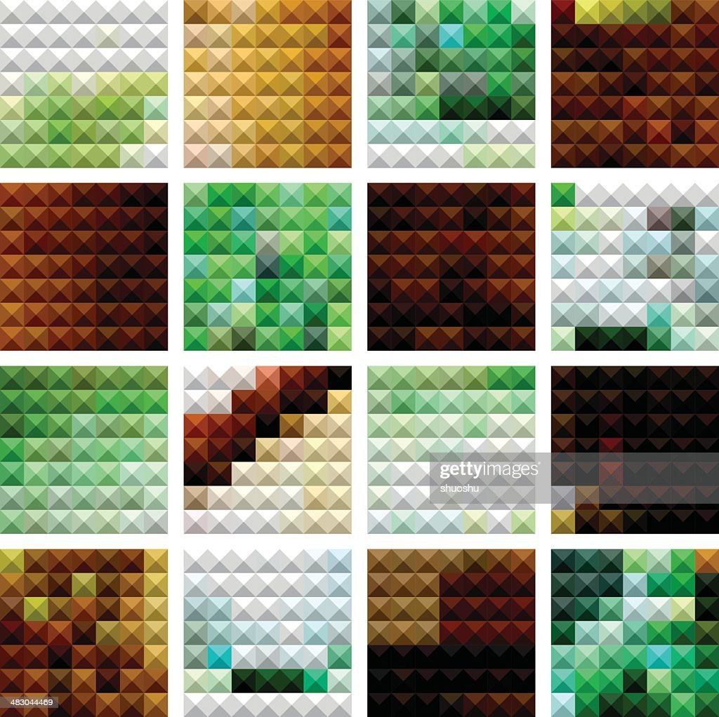 abstract mosaic check pattern background