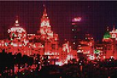 abstract mosaic check Shanghai in night pattern background