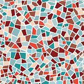 Abstract mosaic sheet seamless pattern. Geometric tile background. Ceramic fragment decorative backdrop