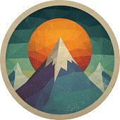 Abstract Mountain Landscape of Triangles