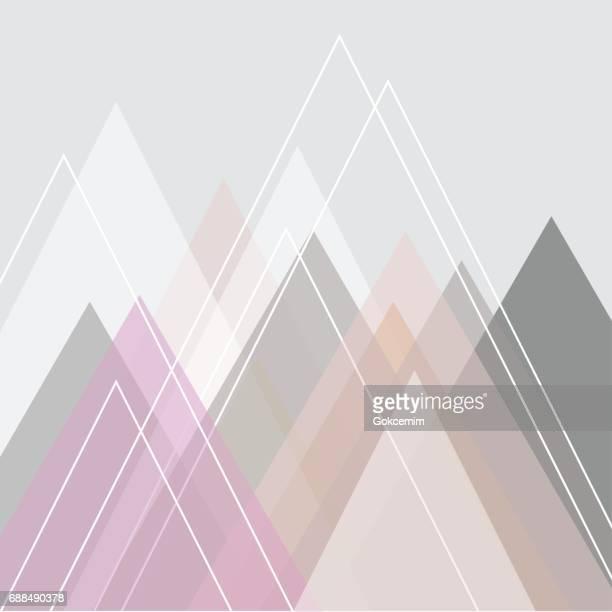Abstract Mountain Peaks Illustration
