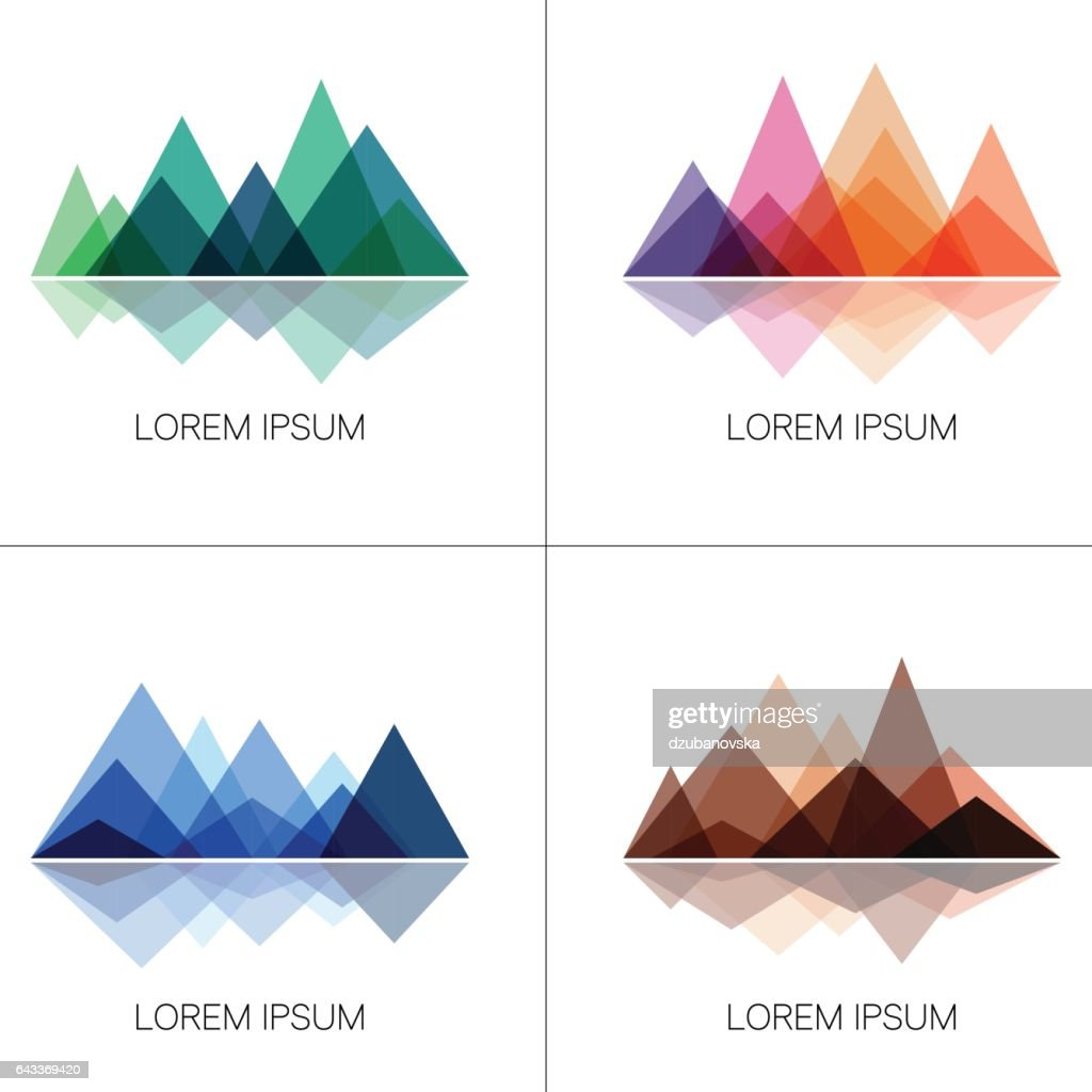 Abstract mountains in geometric style