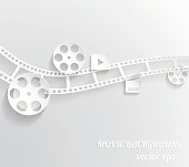 Abstract movie background