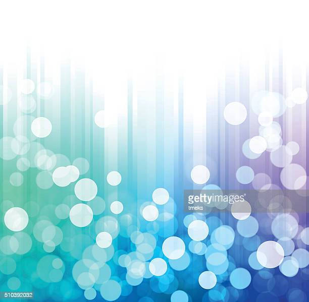 Abstract multi colored vector background with defocus lights