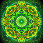 Abstract multicolor kaleidoscope texture background