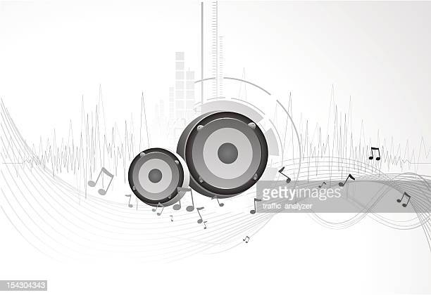 abstract music background - music symbols stock illustrations, clip art, cartoons, & icons