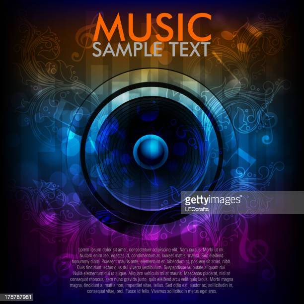abstract music background - music stock illustrations