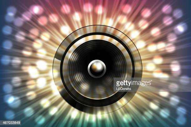Abstract Music Background with splashy lights