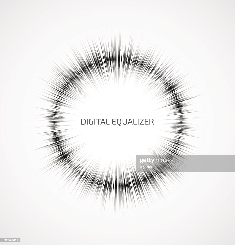 Abstract music equalizer
