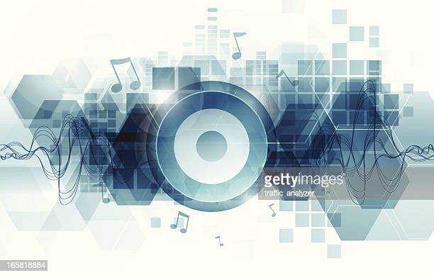 Abstract music teal background