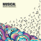 Abstract musical background design. Vector illustration concept
