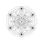 Abstract mystical geometry symbol. Vector alchemy, occult and philosophical sign.
