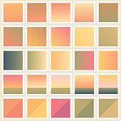 Abstract natural color paletts backgrounds collection in soft gradient shades