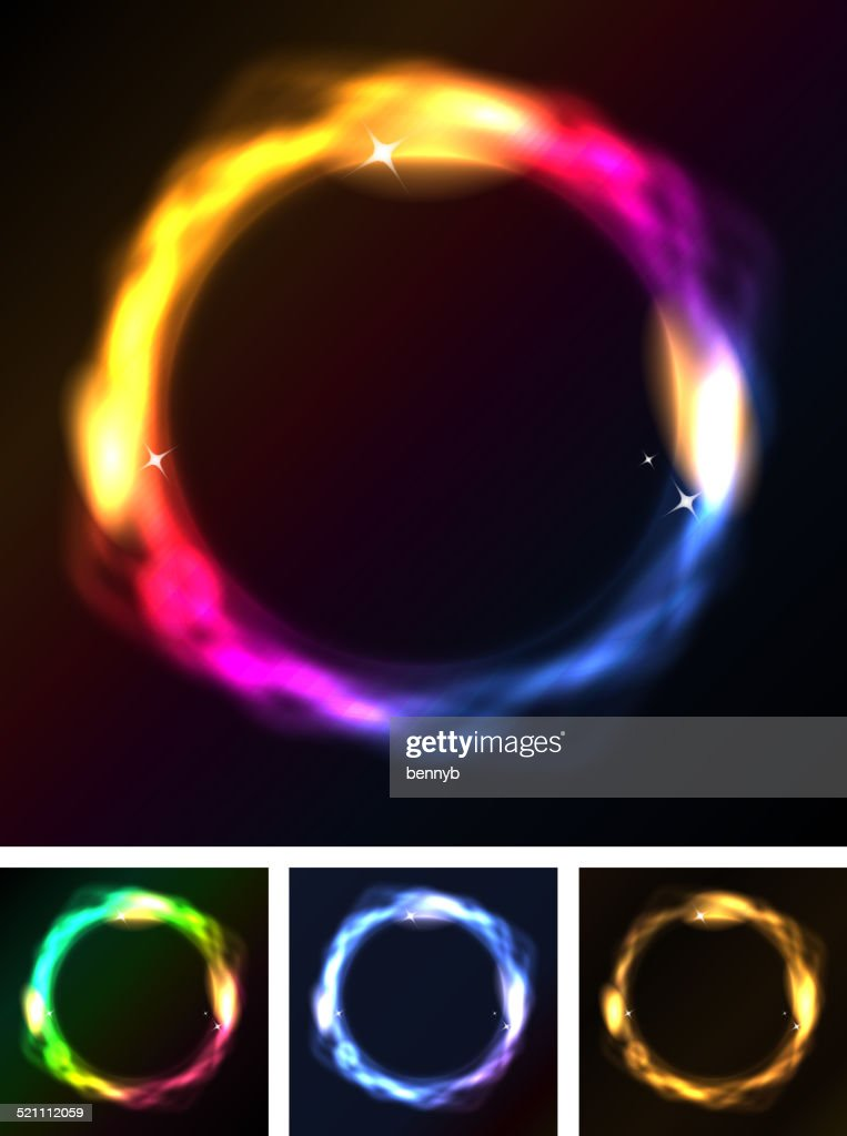 Abstract Neon Circles Or Galaxy Ring