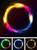 Abstract Neon Circles Or Galaxy Ring