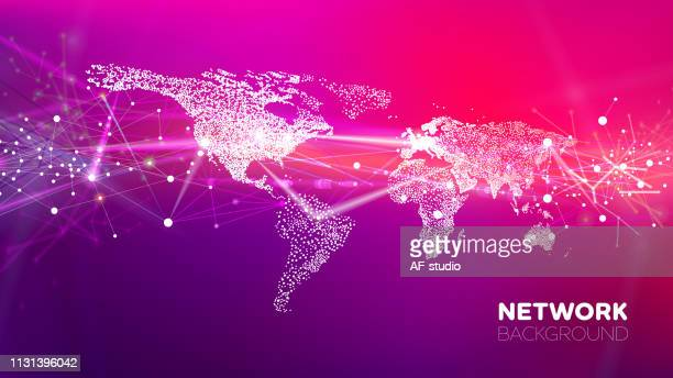 abstract network background - global village stock illustrations
