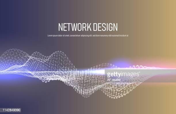 hintergrund des netzwerkes - molekül stock-grafiken, -clipart, -cartoons und -symbole