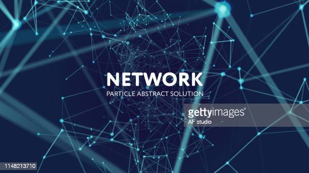 abstract network background - atomic imagery stock illustrations