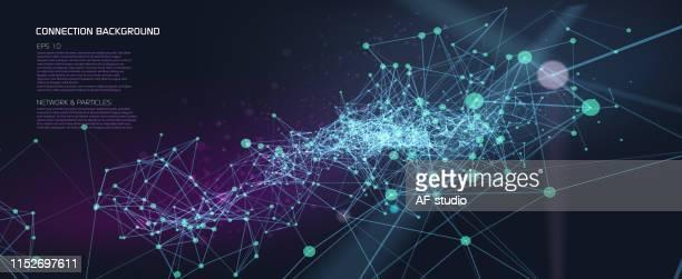 stockillustraties, clipart, cartoons en iconen met abstracte netwerk achtergrond - big data