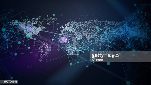 abstract network background - global stock illustrations