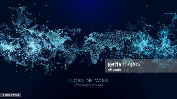 abstract network background - global communications stock illustrations