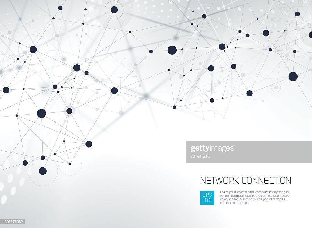 Abstrakte Netzwerk Hintergrund  : Stock-Illustration