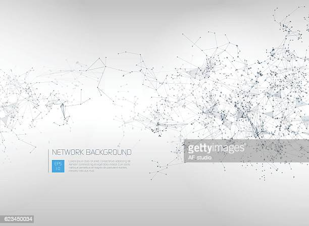 abstract network background - computer network stock illustrations, clip art, cartoons, & icons