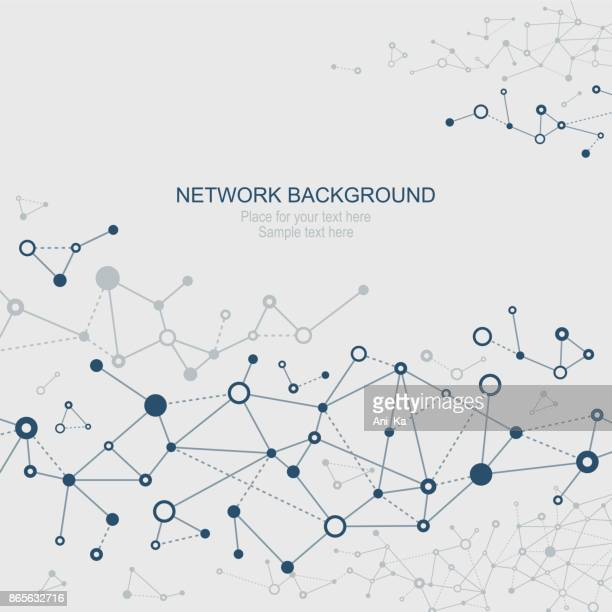 abstract network background - computer network stock illustrations