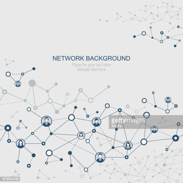 abstract network background - connection stock illustrations, clip art, cartoons, & icons