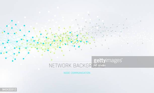 abstract network background - atom stock illustrations
