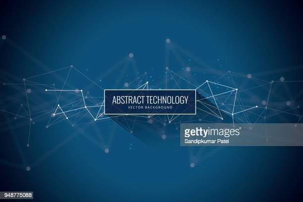 abstract network background - triangle shape stock illustrations