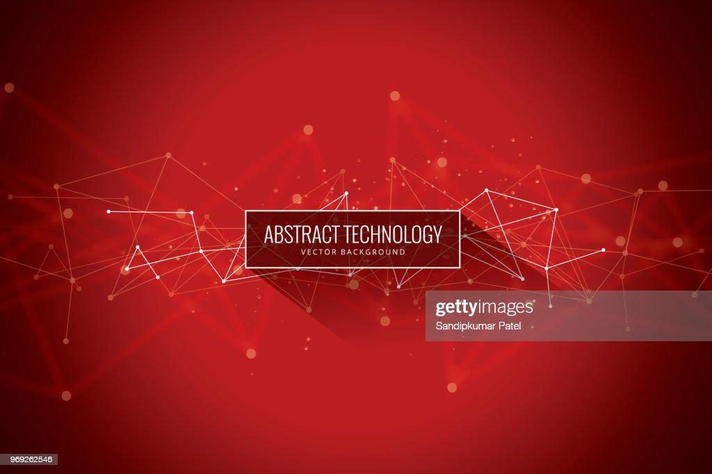 Abstrakte Netzwerk-roten Hintergrund : Stock-Illustration