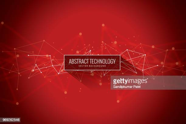 abstract network red background - red stock illustrations