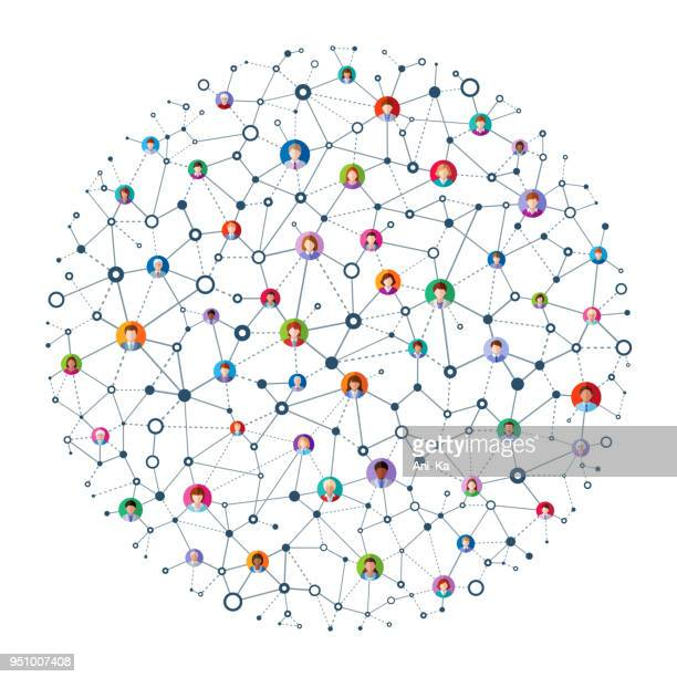 abstract network - computer network stock illustrations