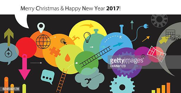 Abstract New Year And Christmas Greeting