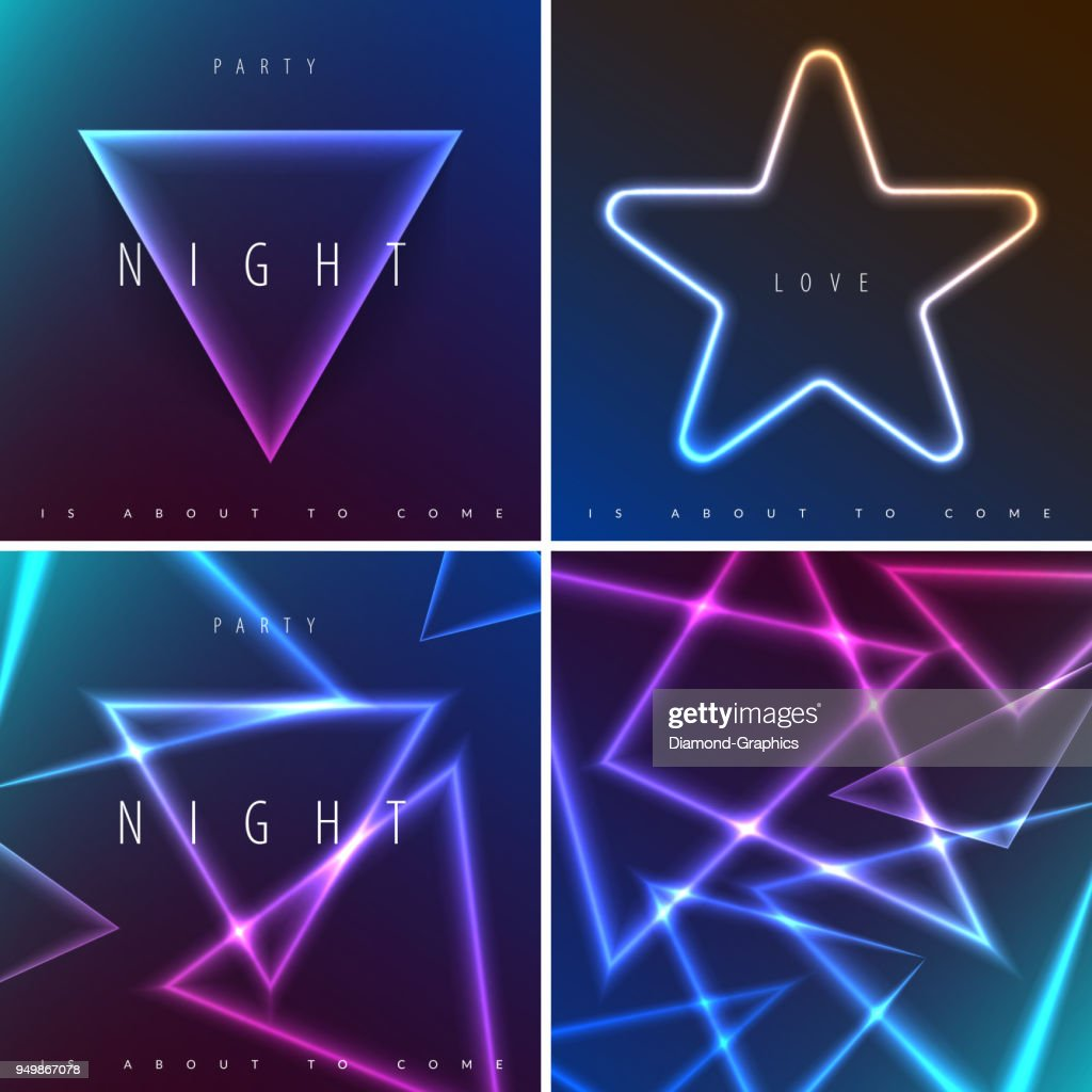 Abstract Night Party Banner In Glamour Design Style Modern Flyer In A4 With Colourful Background For Dance High Res Vector Graphic Getty Images