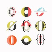 Abstract O letter symbols