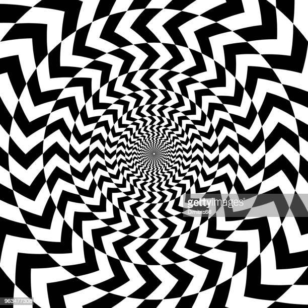 abstract op art background. oposite arrows forming a vortex pattern - fractal stock illustrations
