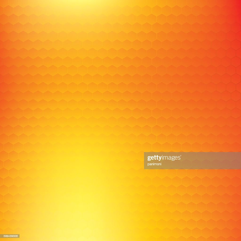 Abstract orange and yellow vector background, color mesh gradient
