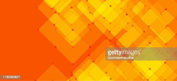 abstract orange geometric background - digital composite stock illustrations