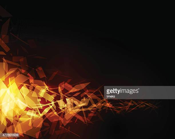 abstract orange geometric background - fire natural phenomenon stock illustrations, clip art, cartoons, & icons