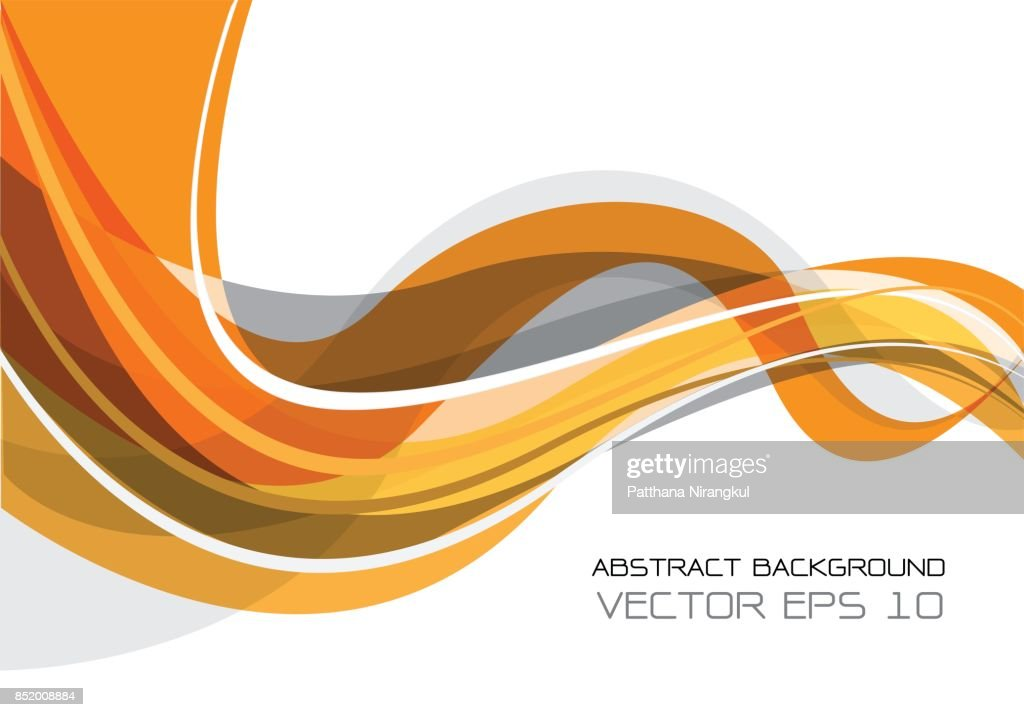 Abstract orange gray wave on white design modern futuristic background vector illustration.