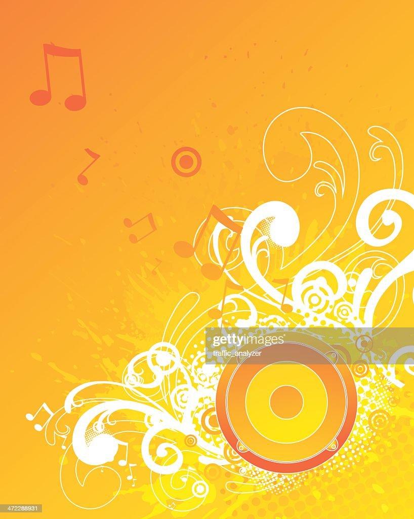 Abstract orange music background