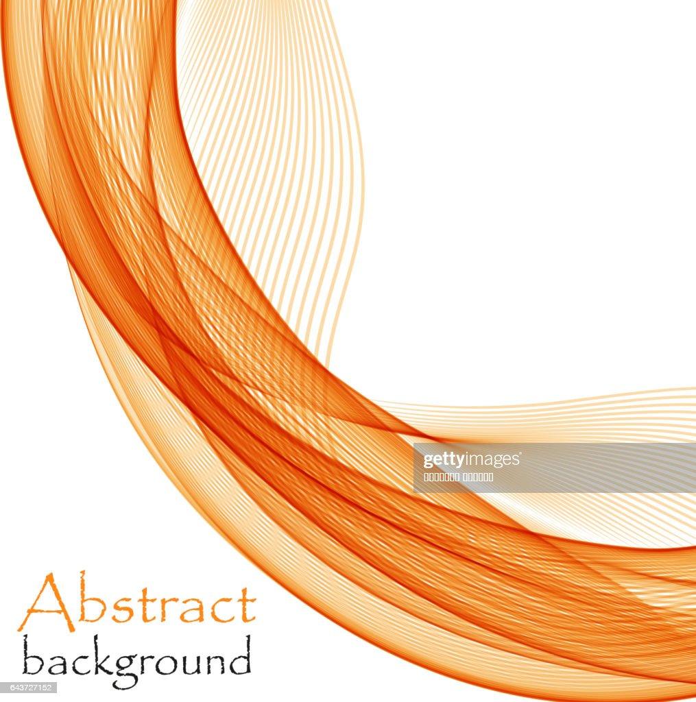 Abstract Orange Waves On White Background Stock Illustration