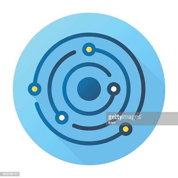 stockillustraties, clipart, cartoons en iconen met abstract orbit icon - orbiting
