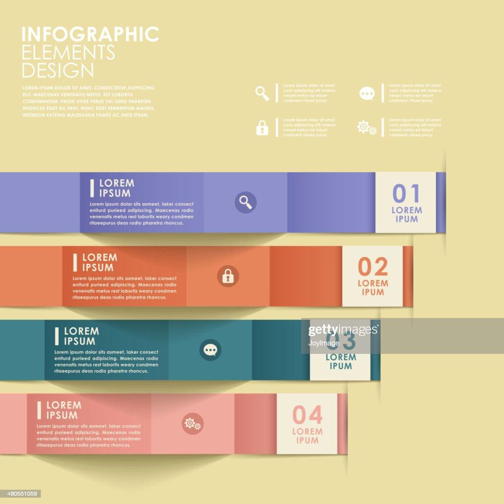 abstract origami Banners infografías : Arte vectorial