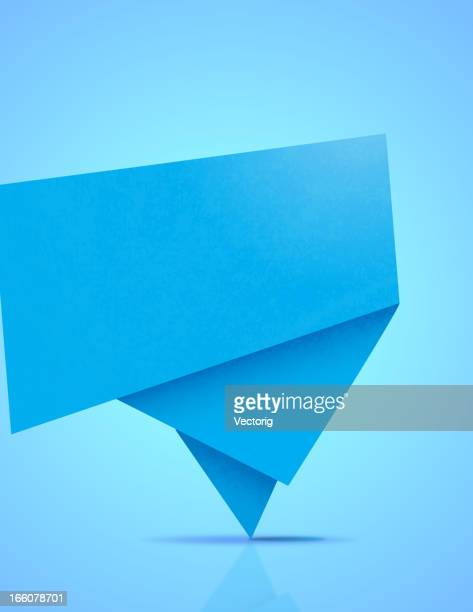 abstract origami banner - origami stock illustrations