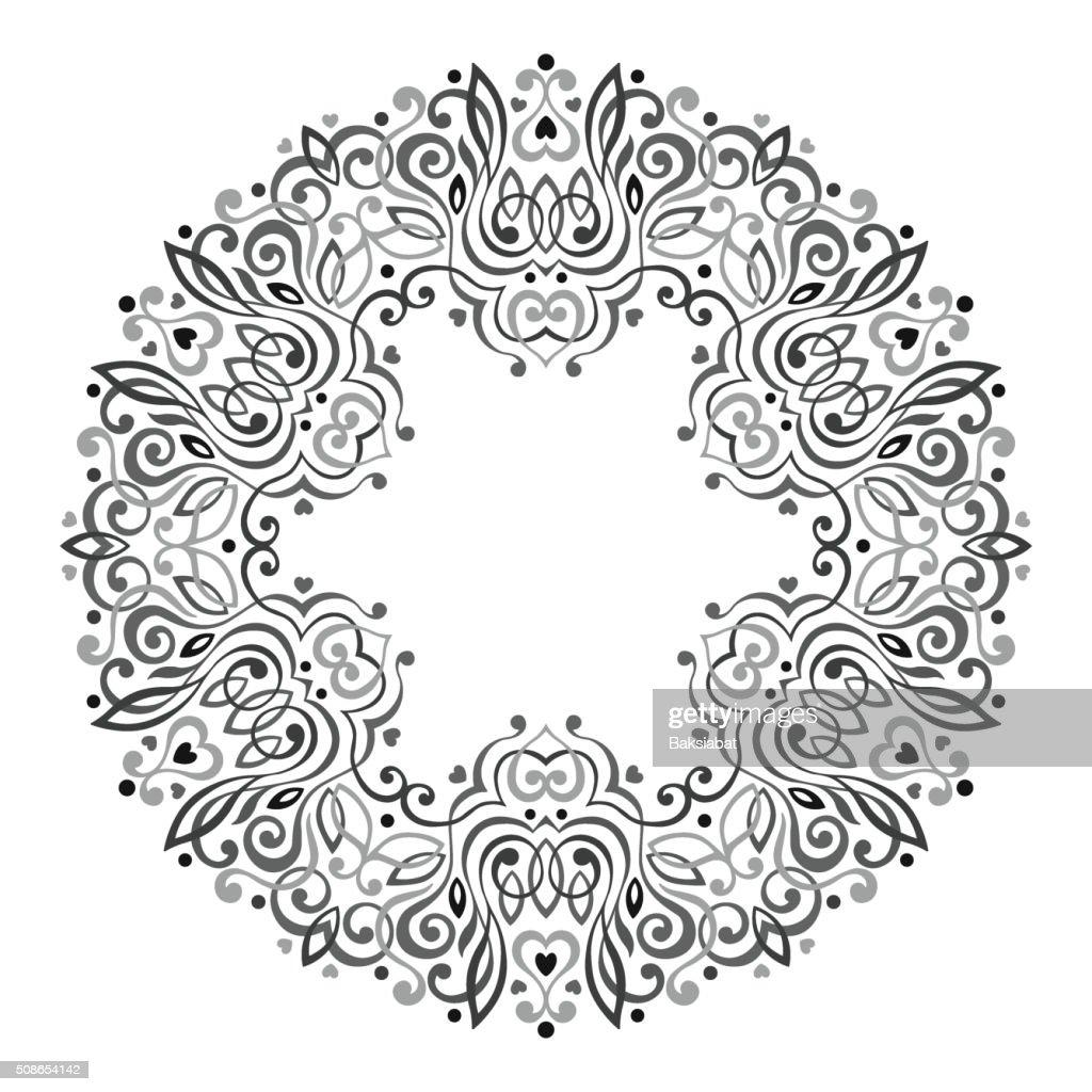 Abstract Ornate Mandala. Decorative frame for design : Vector Art