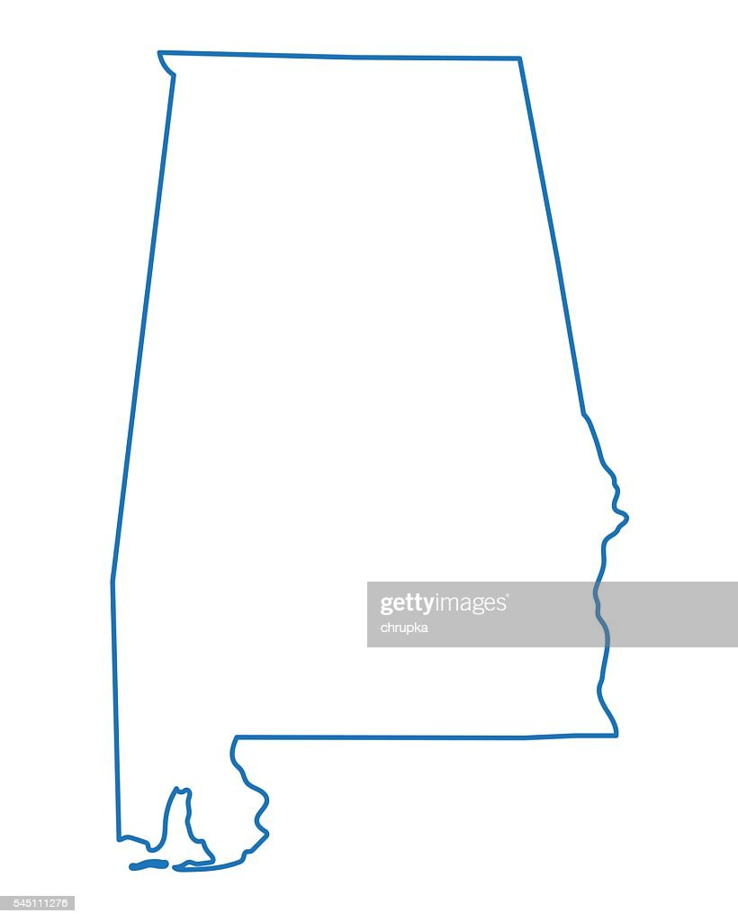 abstract outline of Alabama map