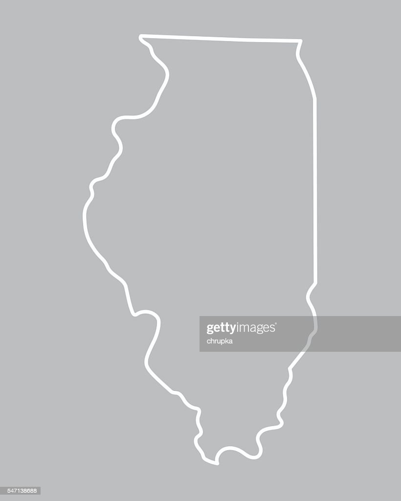 abstract outline of Illinois map